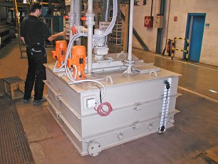 PREPARATION AND LOADING OF FLUXES FOR TWO WIRE FACTORY ASSEMBLY LINES
